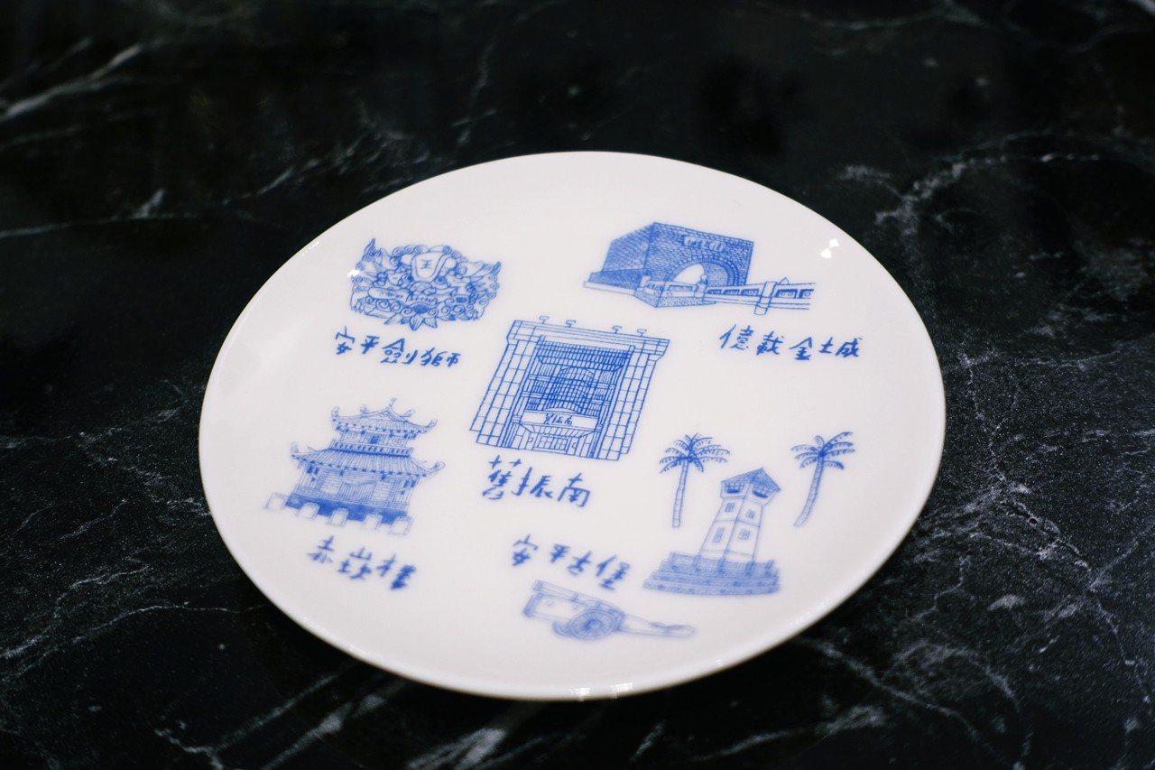 舊振南下午茶特製小盤。記者沈佩臻/攝影