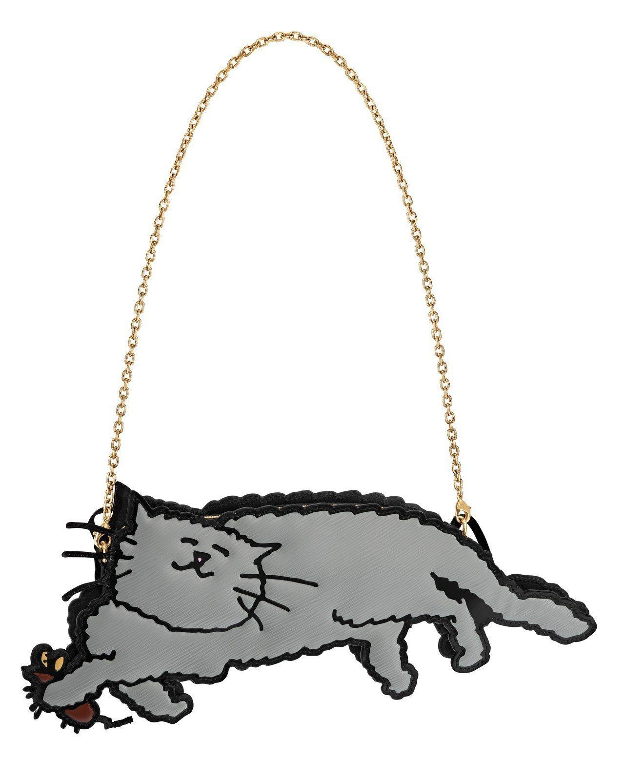 貓捉老鼠變身為別緻的全新手袋。圖/LV提供