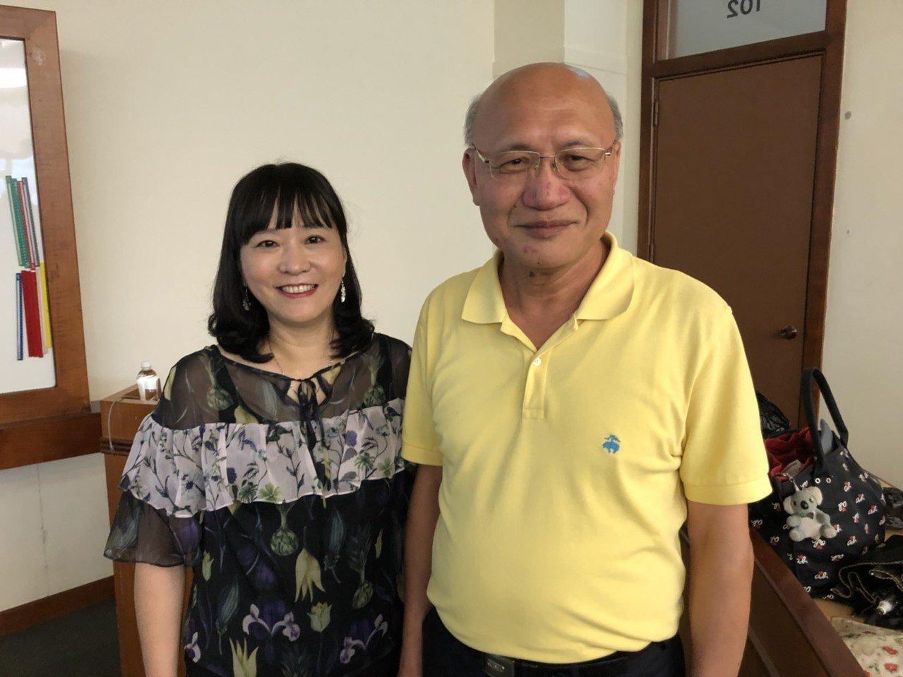 伯達行旅董事李譿心(左),和龍潭渴望園區管理處處長張邱傳(右)。記者張念慈/攝影