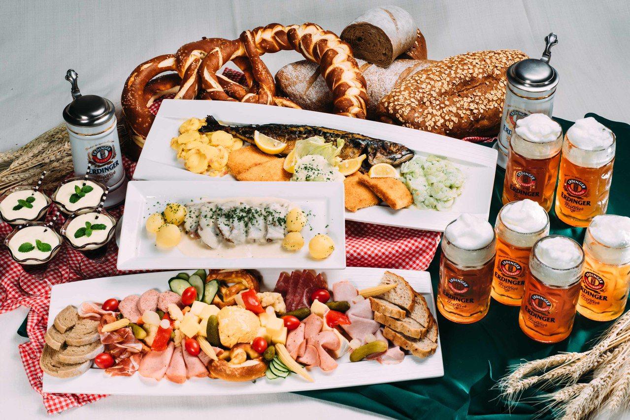 各種德國在地酒與菜,接連11天開吃開喝。圖/美僑協會提供
