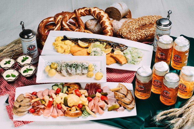 各種德國在地酒與菜,接連11天開吃開喝。圖/美僑協會提供※ 提醒您:禁止酒駕 飲...