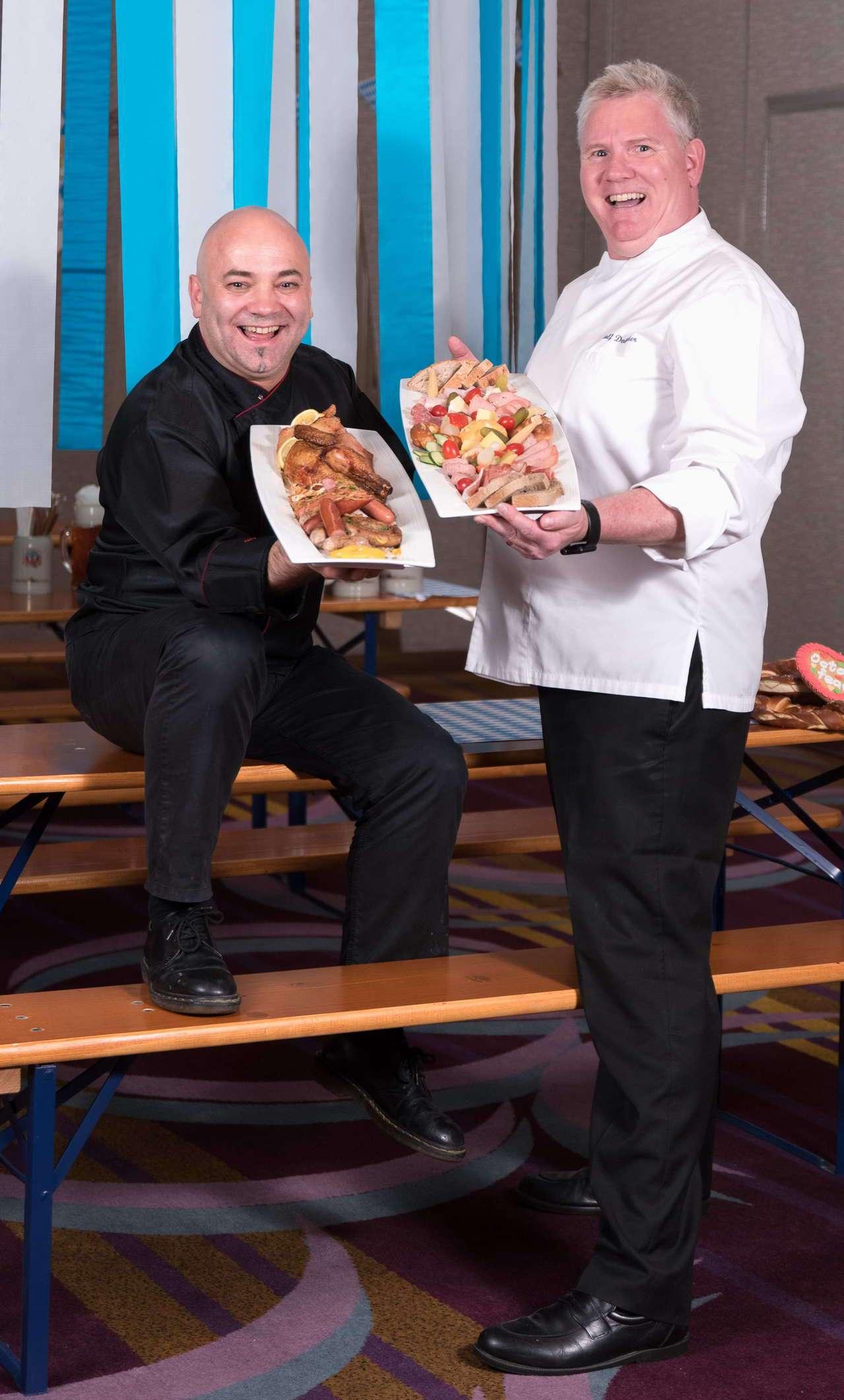 兩大名廚帶來德國南北特色菜。圖/美僑協會提供
