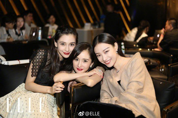 Angelababy(左起)、楊冪以及倪妮。圖/摘自微博