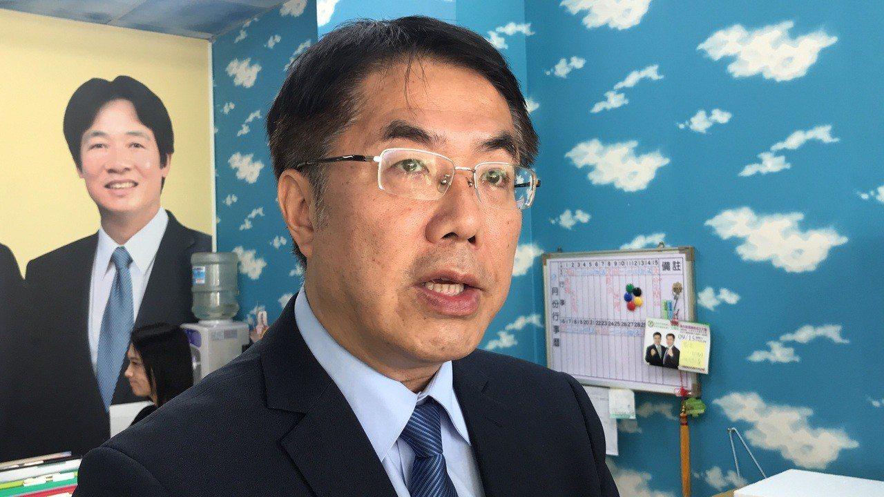 民進黨台南市長參選人黃偉哲。記者鄭維真/攝影