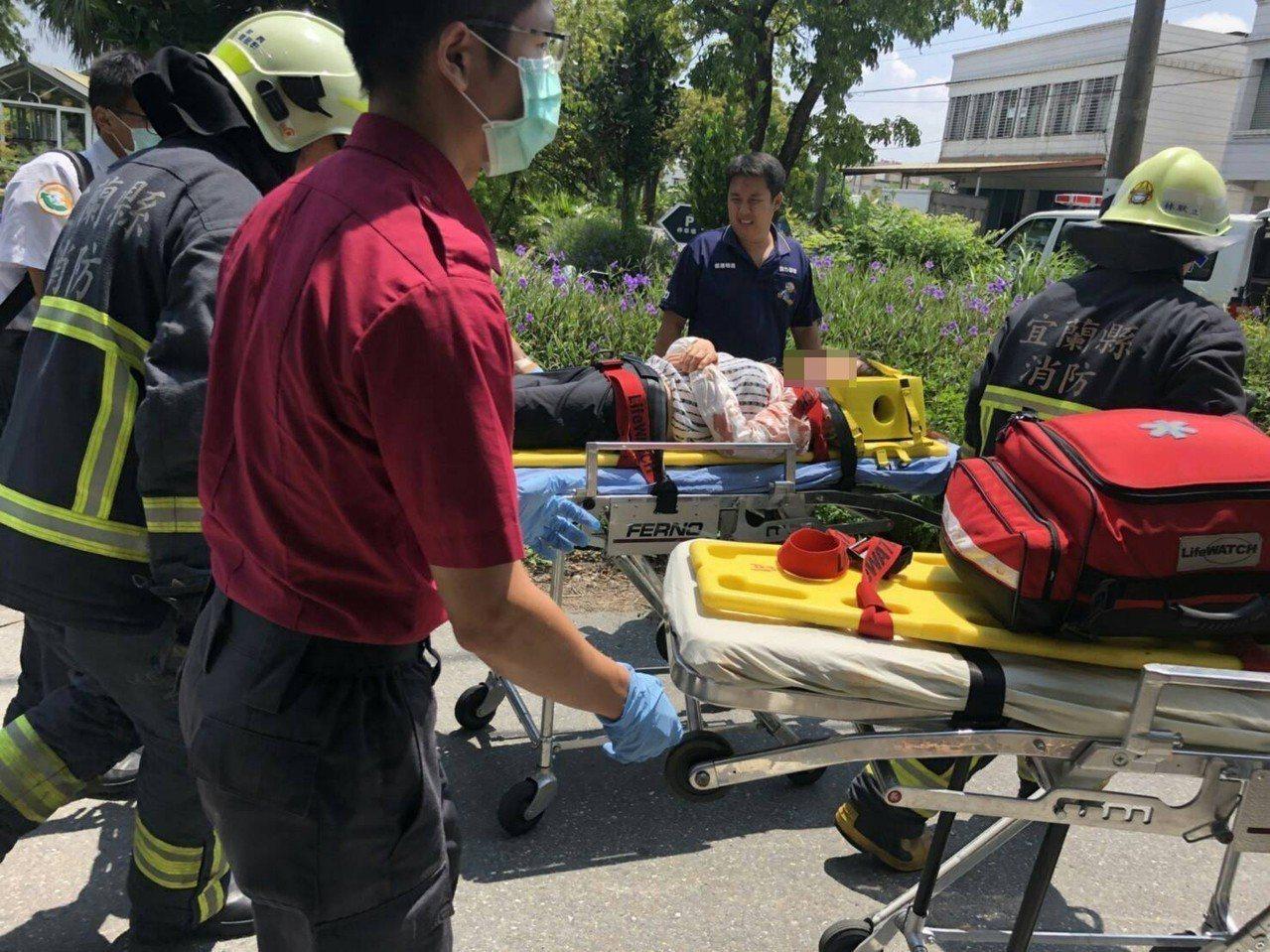 宜蘭車禍4人受傷送醫。圖/宜蘭縣消防局提供