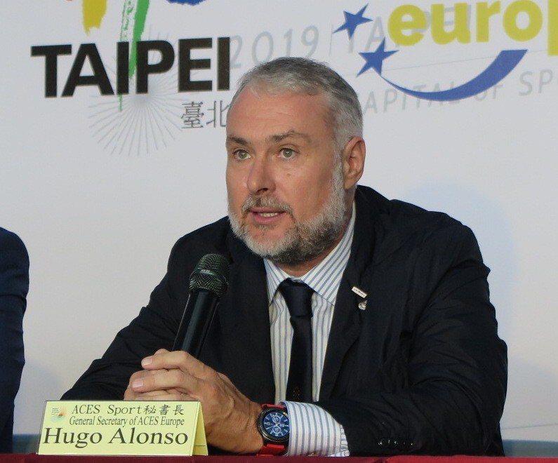 歐洲運動城市聯盟秘書長Hugo Alonso。記者毛琬婷/攝影