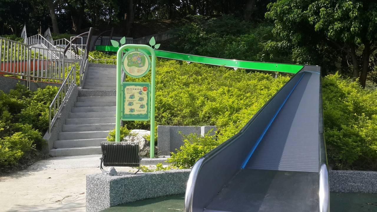 全台最長的滾輪滑道在新北市錦和運動公園。
