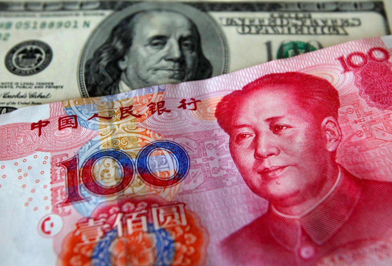 CNBC調查預測人民幣兌美元不會貶破7元關卡。 路透