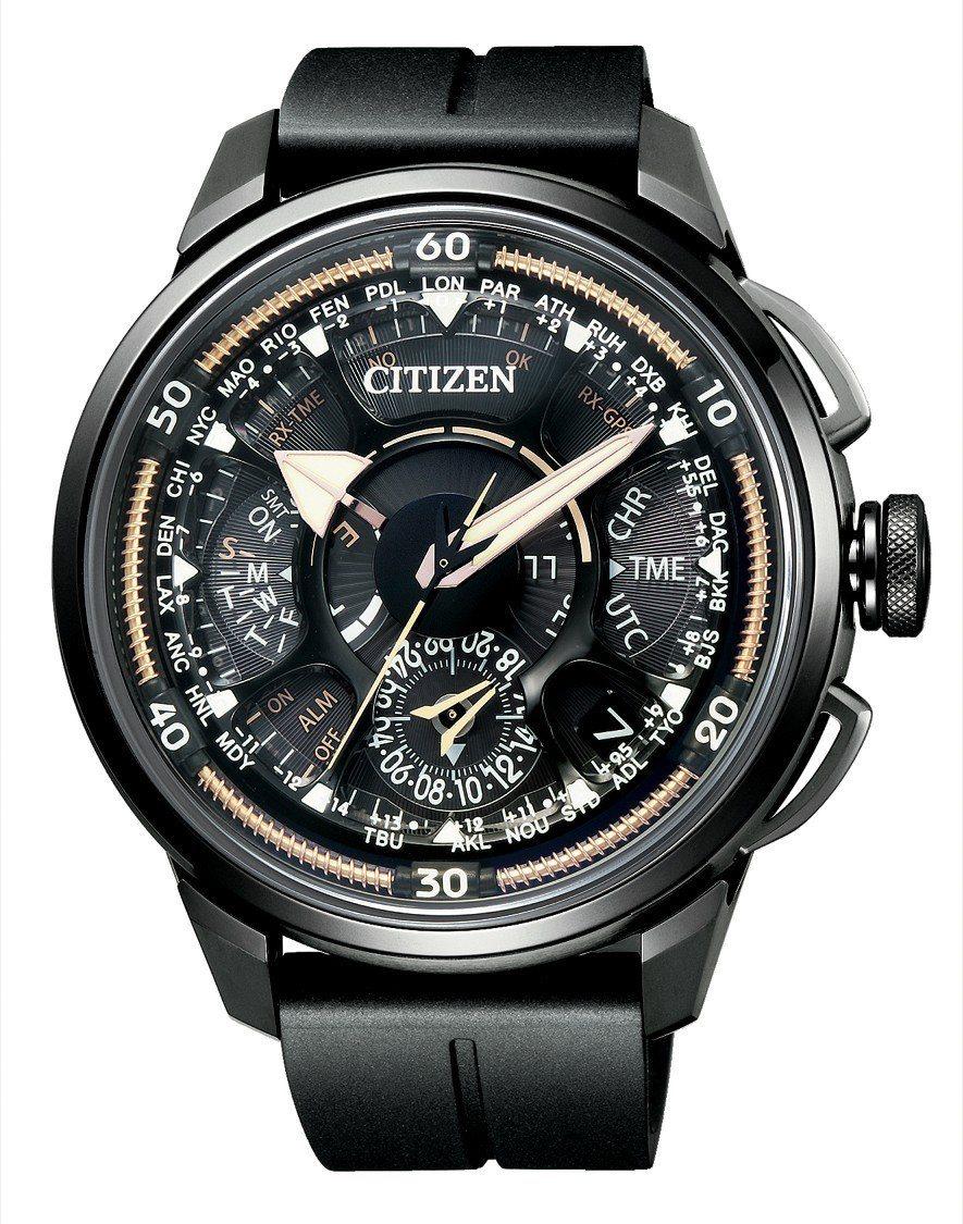 黃子佼配戴CITIZEN百年紀念F990光動能GPS衛星對時腕表,全台限量50只...