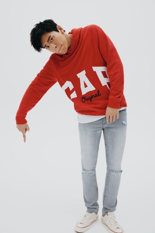 知名男星王大陸成為GAP大中華區代言人,並演繹最新秋季服飾系列。圖/GAP提供