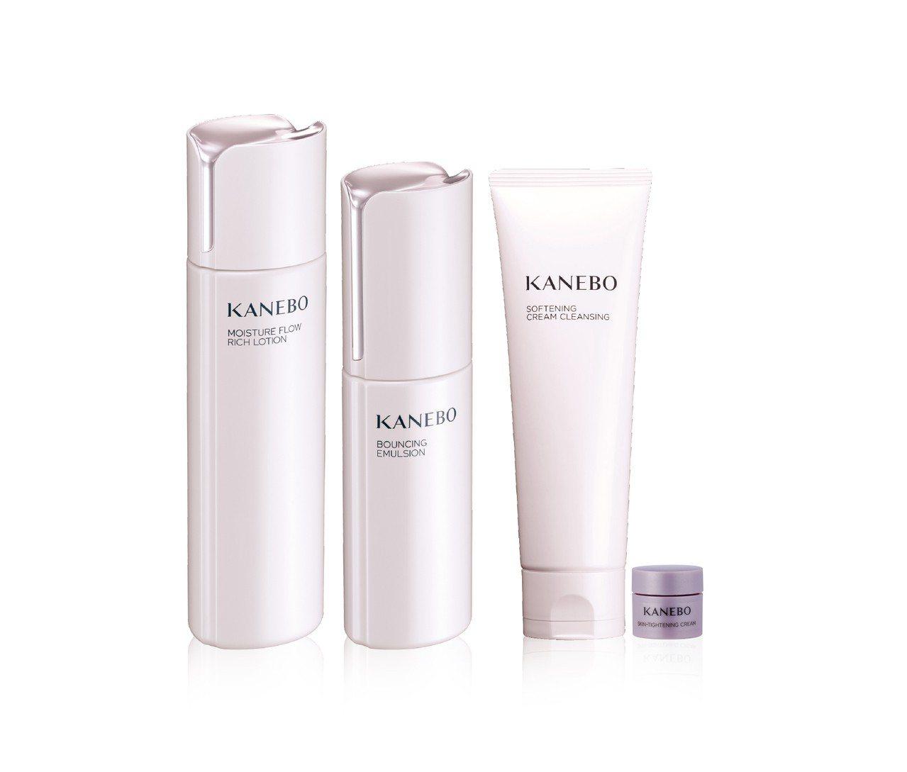 首賣KANEBO化妝水+乳液組合特別優購組4,150元,贈柔潤淨膚潔膚霜120m...
