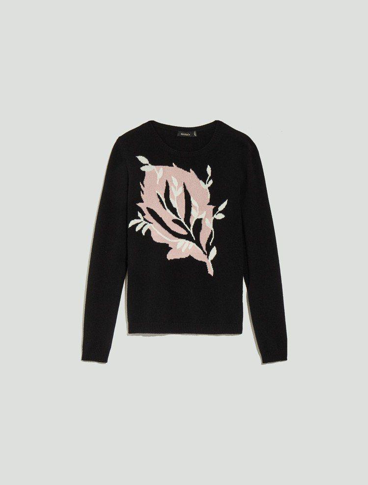 MAX&Co.2018秋冬系列鸭跖草缇花针织衫15,800元。 图/华敦提供