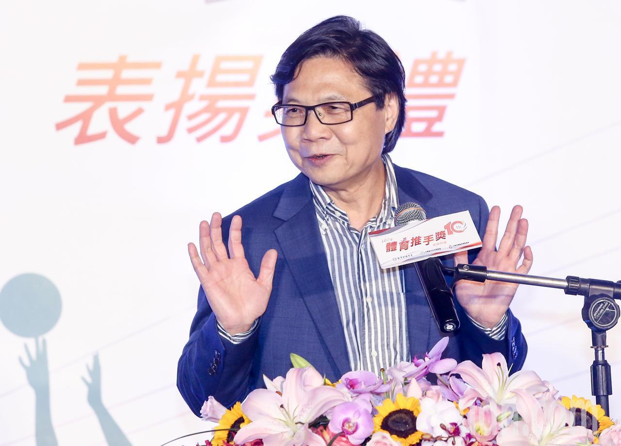 教育部長葉俊榮出席致詞,讚揚我國運動員在亞運的精采表現。記者鄭清元/攝影