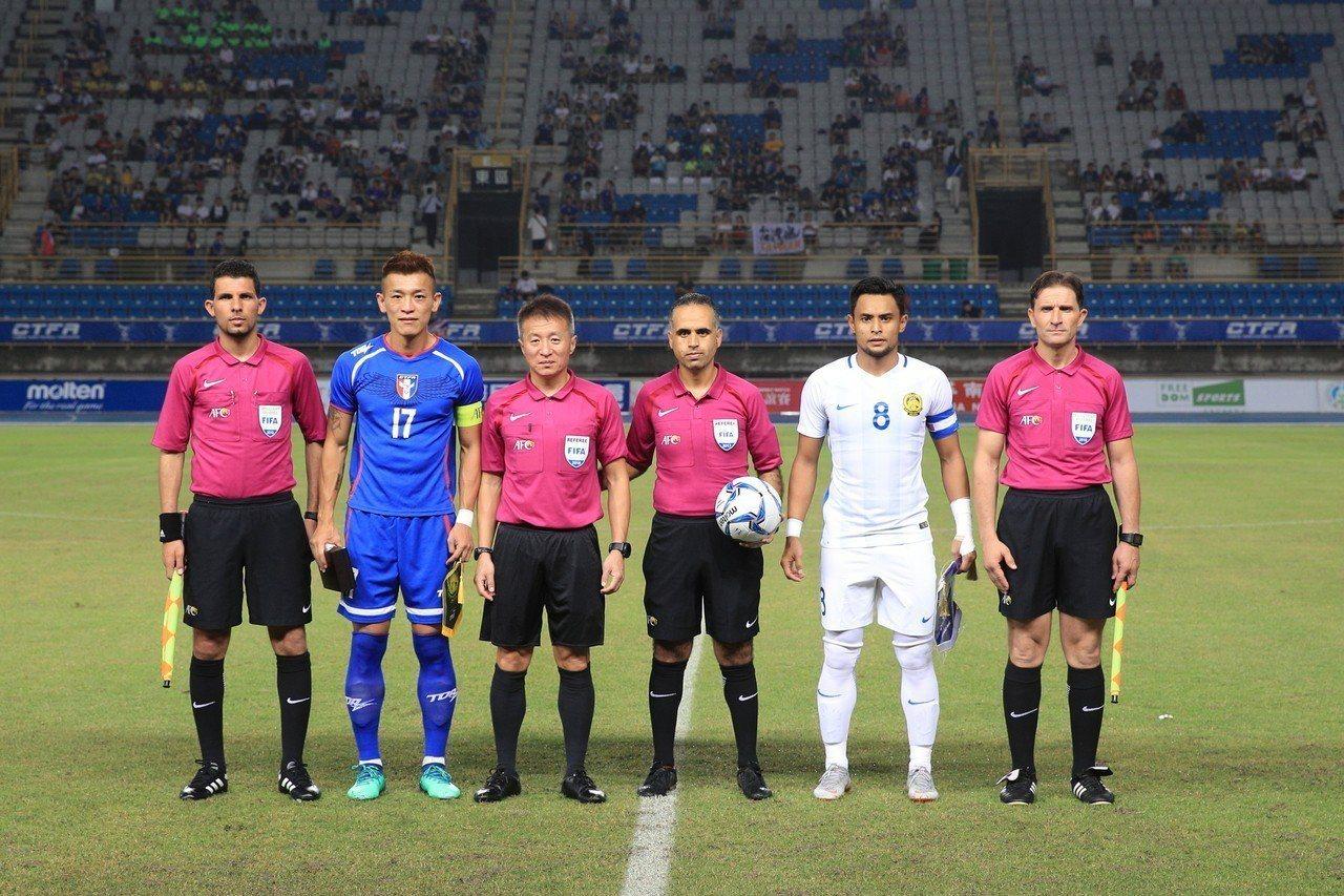 中華隊今晚在台北田徑場與馬來西亞隊進行友誼賽。圖/中華足球協會提供