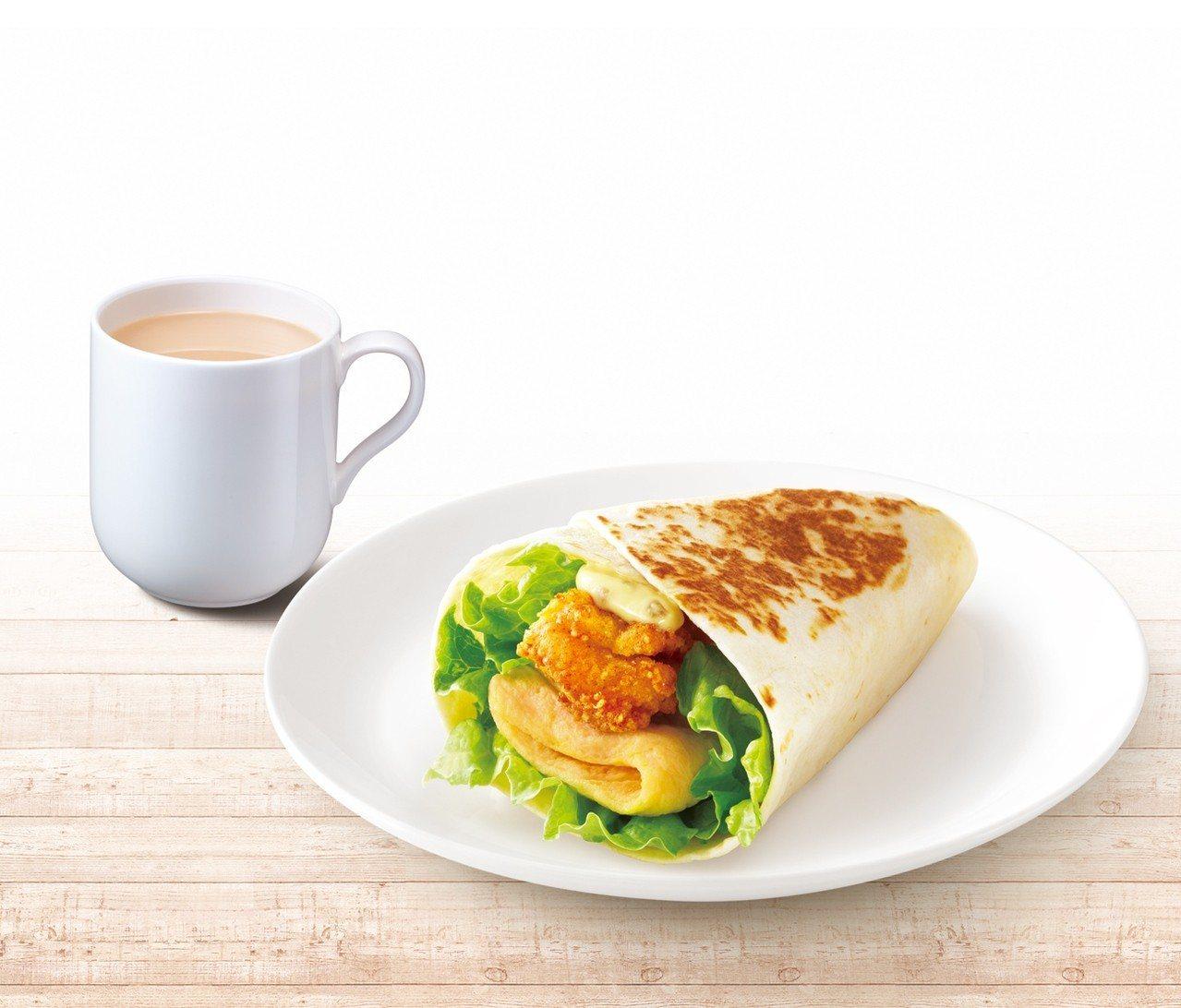 「吮指嫩雞蛋烤餅套餐」自9月25日至10月1日,優惠售價49元。。圖/肯德基提供