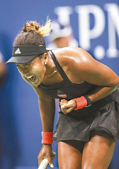 大坂直美在美網女單決賽將對上小威。 (新華社)