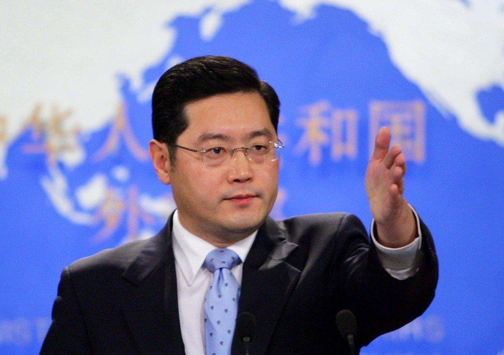 中共外交部新仼最年輕的副部長秦剛。中新社資料照
