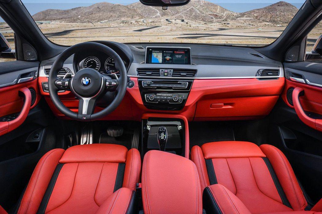 BMW X2 M35i內裝。 摘自BMW