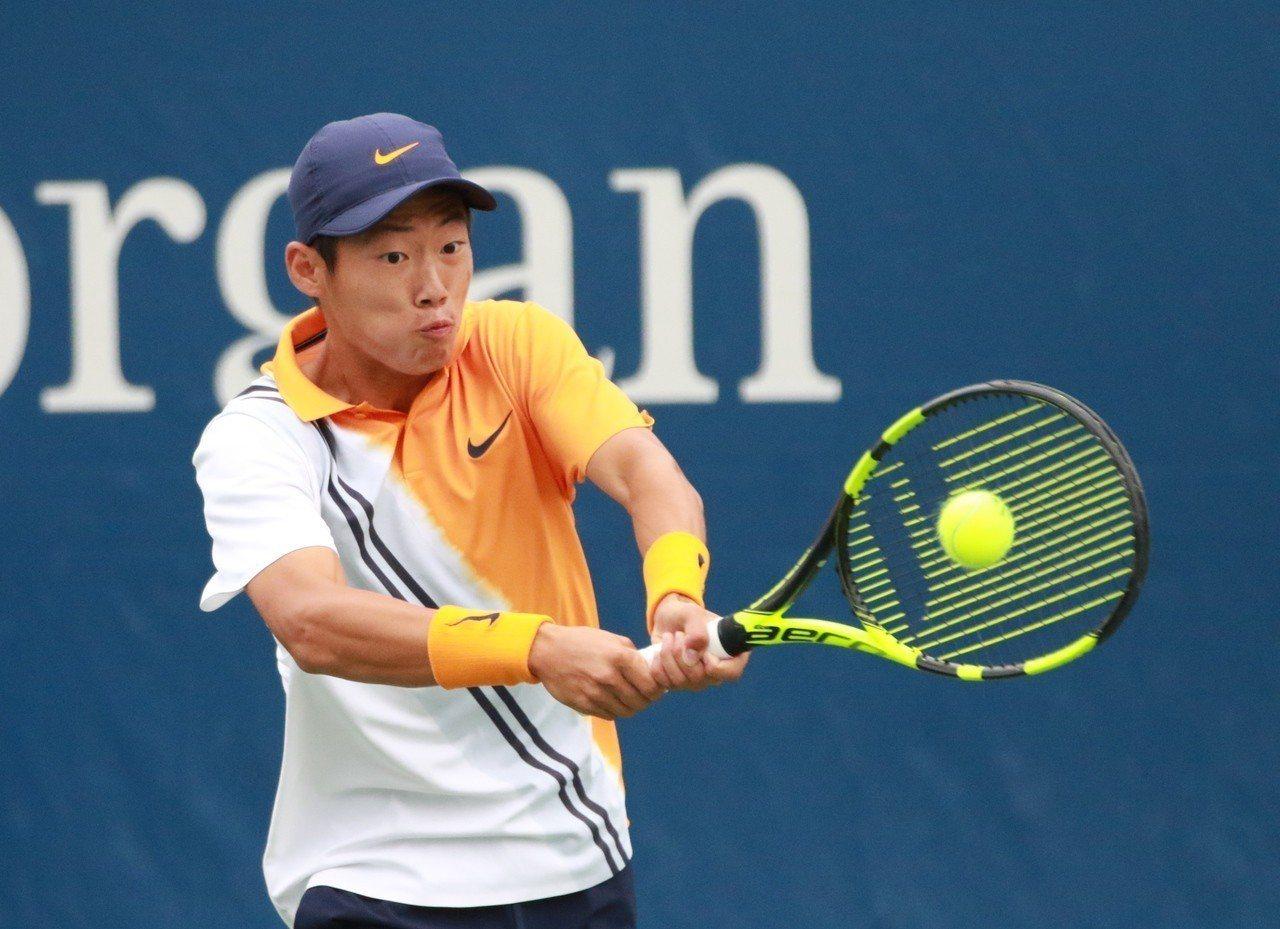 曾俊欣挺進美網青少年單打4強賽。圖/四維體育推廣教育基金會提供