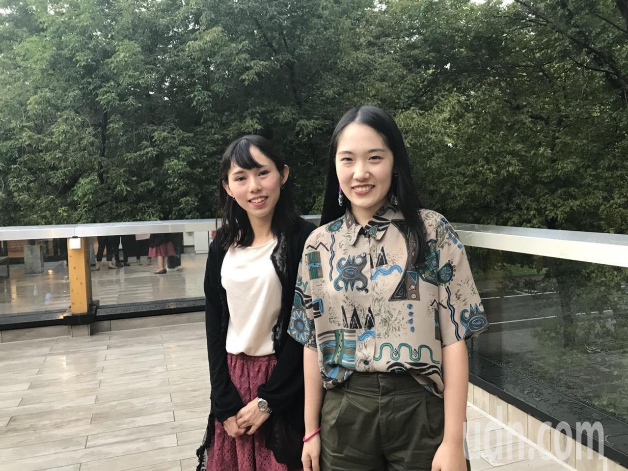 25歲的北醫大保健營養學系畢業生阮郁甯(左),目前就讀北海道大學保健科學院研究所...