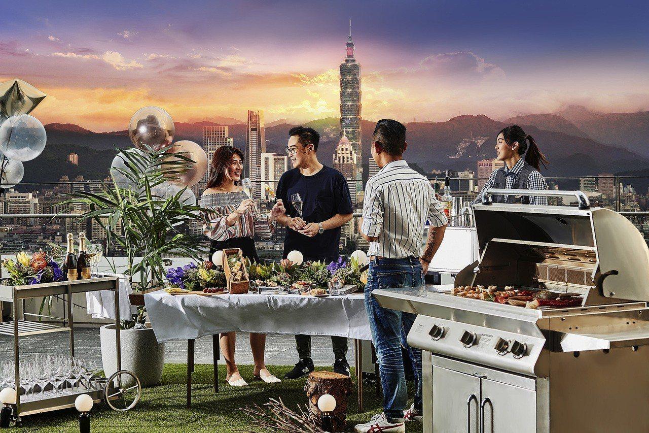 台北萬豪酒店INGES Bar & Grill於9月22日、23日舉辦高空烤肉派...