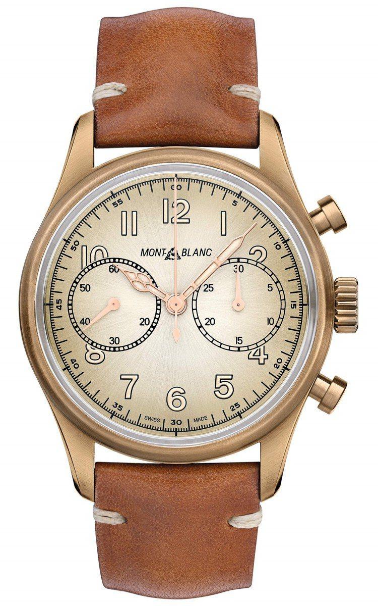 萬寶龍1858 系列計時自動腕表,16萬2,200元。圖/萬寶龍提供