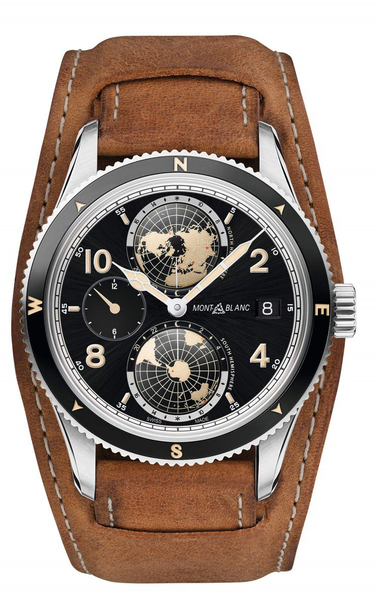 萬寶龍1858 系列世界時間Geosphere 腕表,17萬9,500元。圖/萬...
