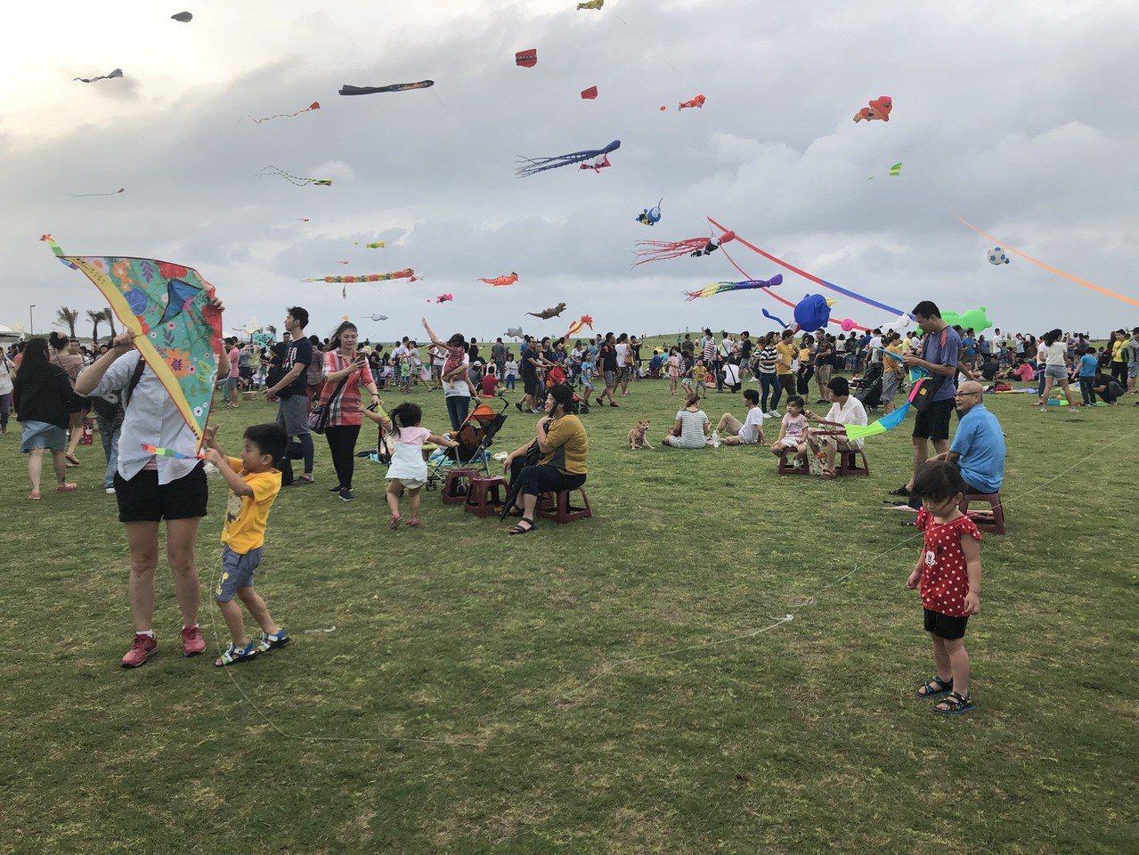 風箏升空飛翔,超壯觀。記者郭宣彣/攝影