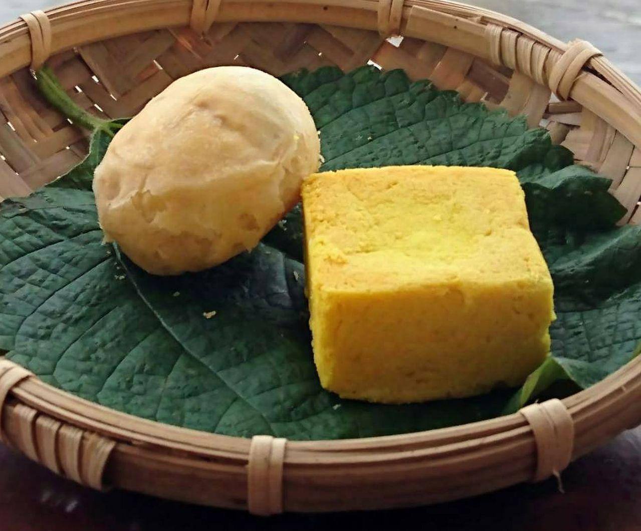 包裹著梅餡的老梅餅與薑黃酥,是日光小林社區最珍貴的好滋味。記者王昭月/攝影