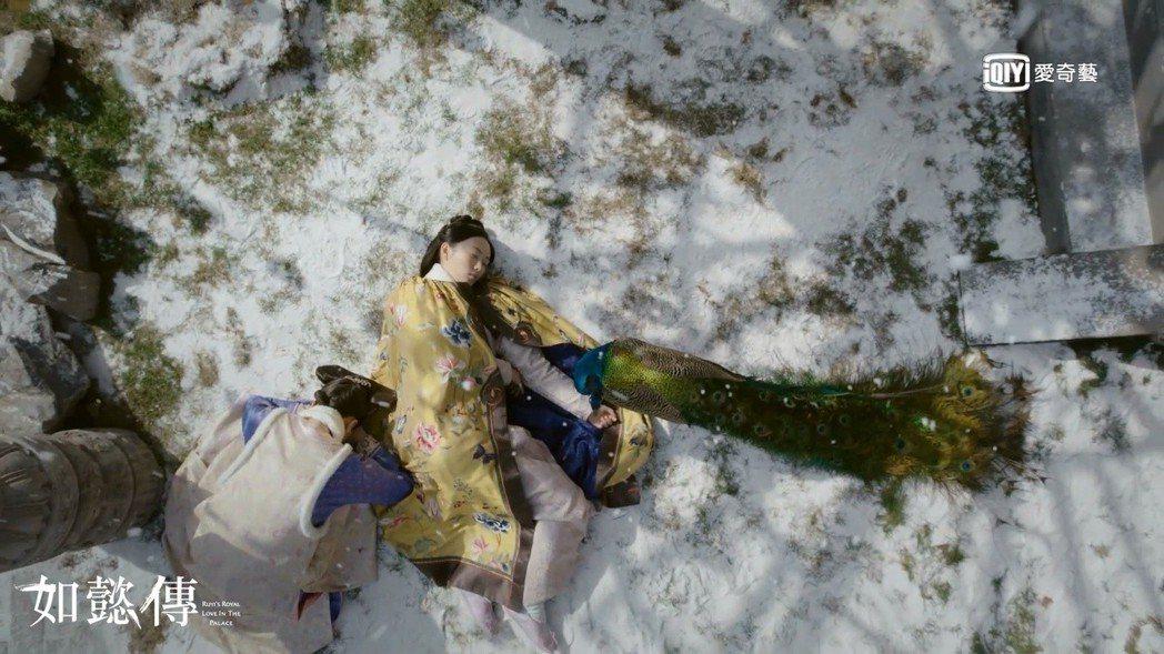 童謠飾演的慧貴妃最後倒在雪地,畫面淒美。圖/愛奇藝台灣站提供
