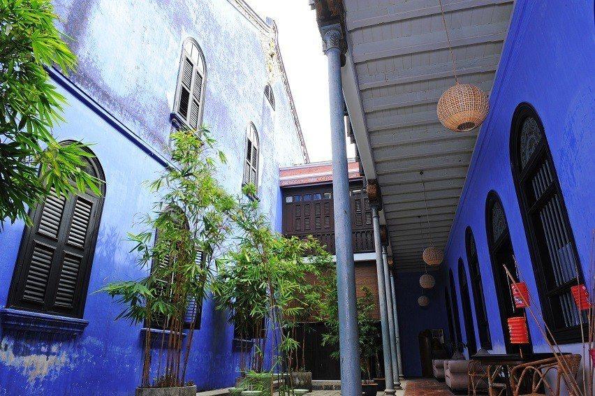 有「藍屋」之稱的張弼士故居。圖/馬來西亞觀光局提供