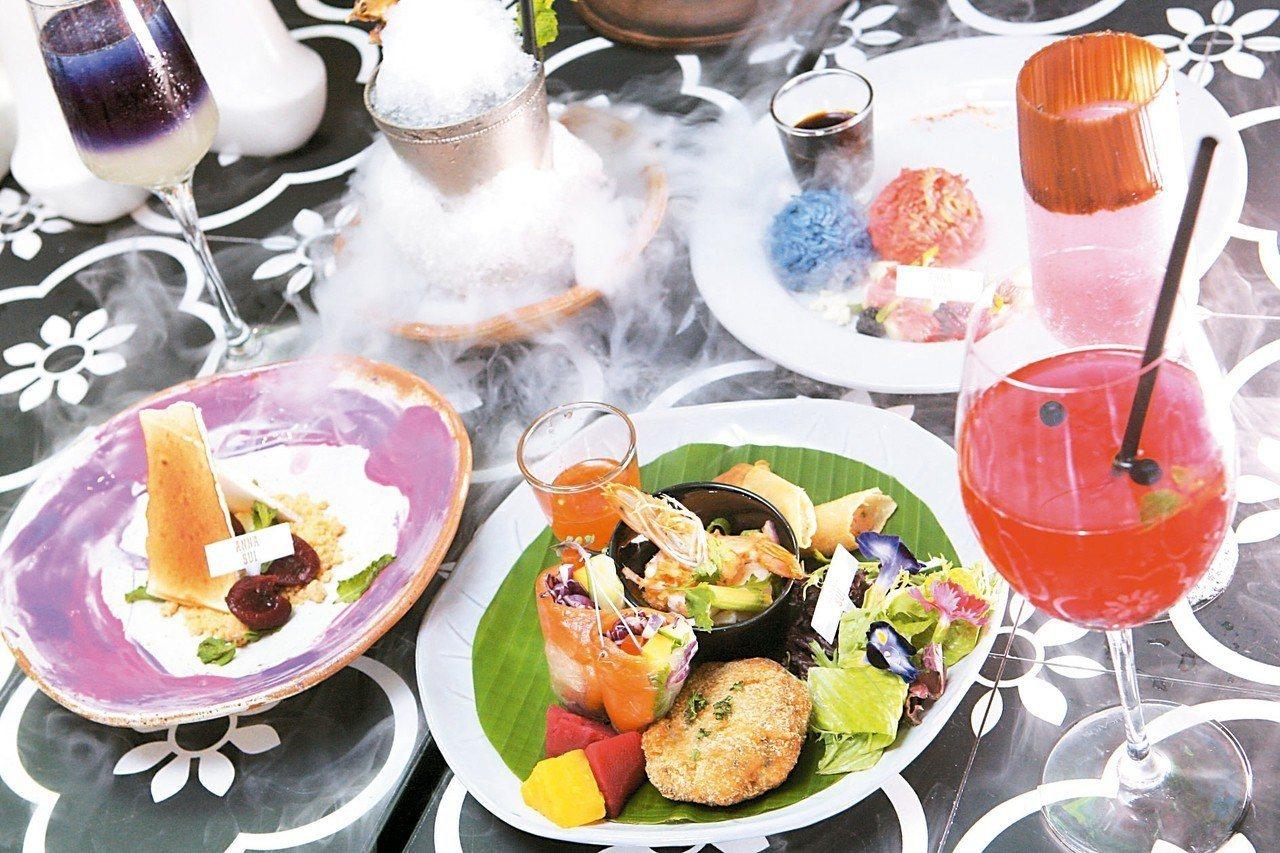 Thai J與Anna Sui合作推出聯名款「限量魔幻旅行寶盒套餐」。 記者陳睿...