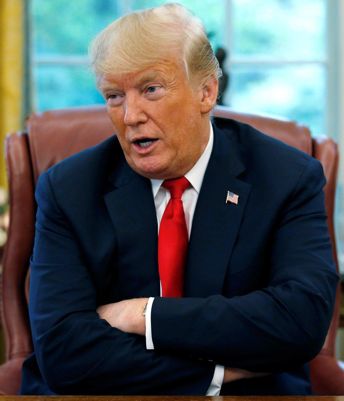 美國總統川普七日證實,北韓領導人金正恩已致函給他。 (路透)