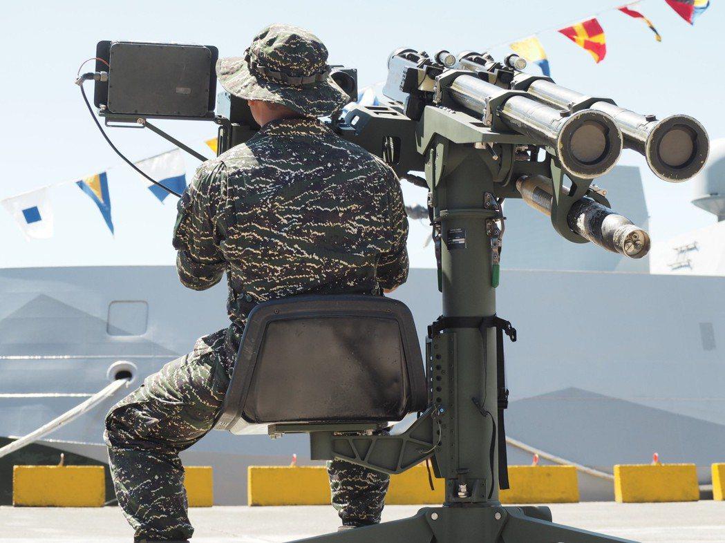海軍陸戰隊的雙聯裝刺針DMS飛彈。記者程嘉文/攝影