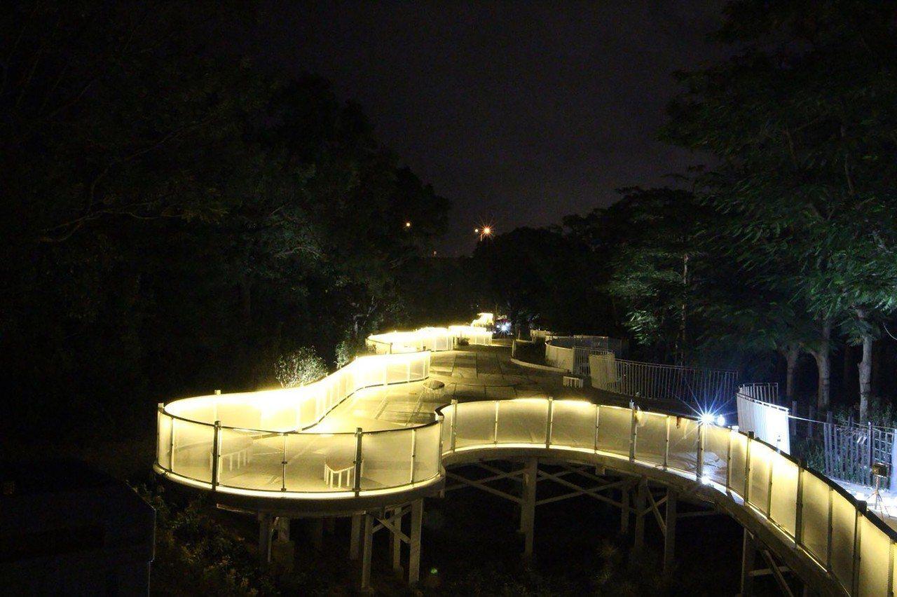 台中花博后里園區規劃的后里「花馬道」,設計有花花步道、東西向跨鐵路空中步道及花苞...