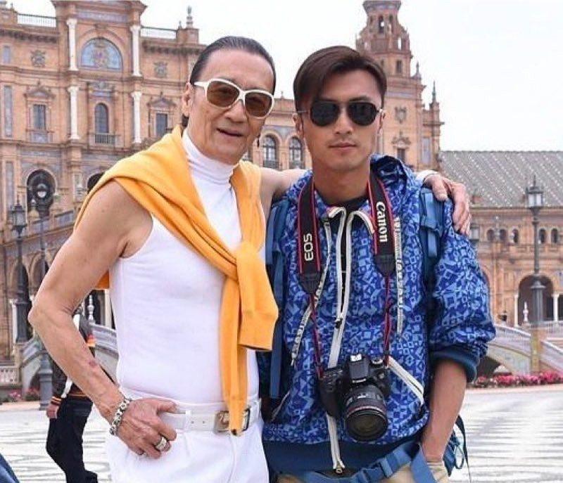 謝霆鋒(右)與父親謝賢(左)。 圖/摘自微博