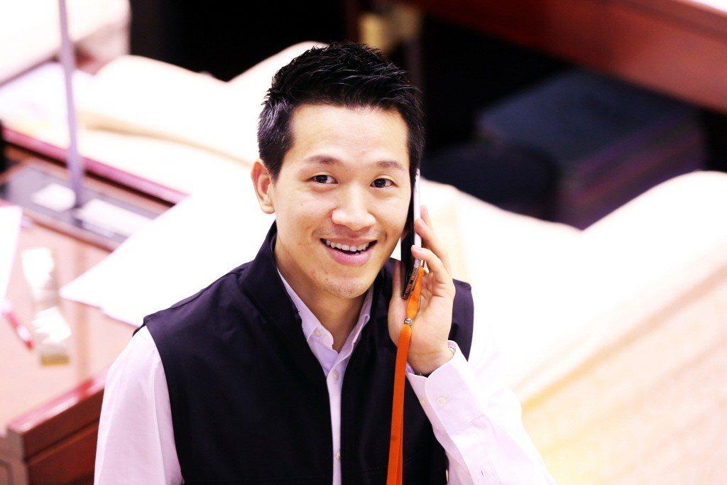 台北市議員何志偉。 聯合報系資料照片/記者徐兆玄攝影