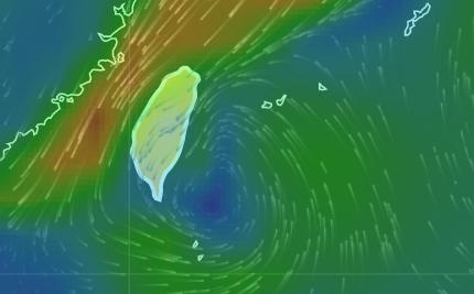 東南部外海也有低氣壓,未來1天低氣壓將持續增強,並成為熱帶性低氣壓,甚至發展成輕...