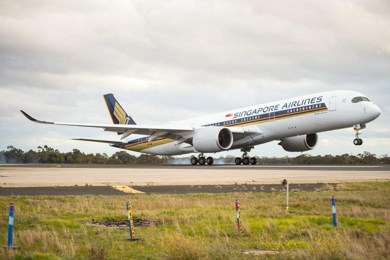 Airbus A350 landing。新加坡航空/提供