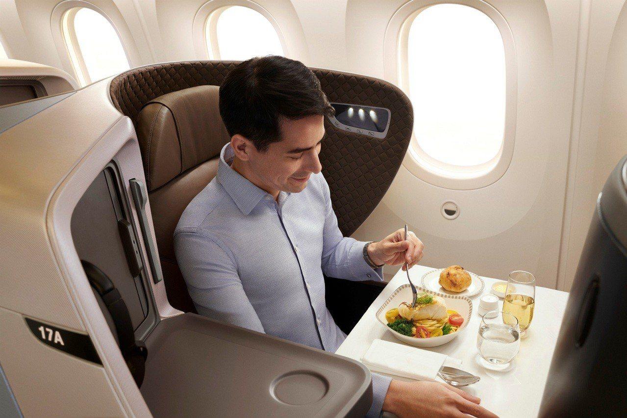 新航區域型商務艙。新加坡航空/提供