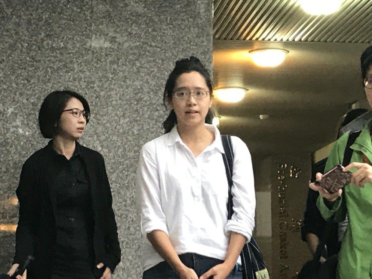 楊偉中妻陳以真。記者連珮宇/攝影