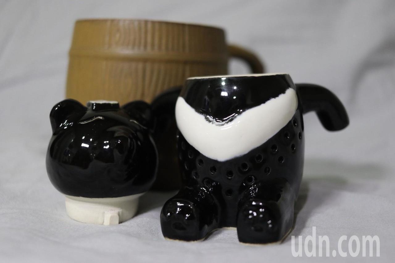 熊體設計成濾茶器,分2部分可以拆卸。記者曾健祐/攝影