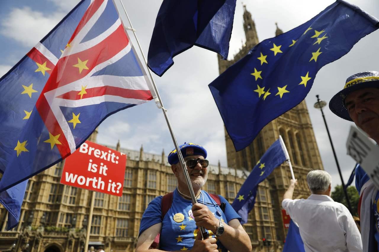 最新民調顯示,英國三大工會成員以2比1的比率支持對脫歐進行二次公投。法新社