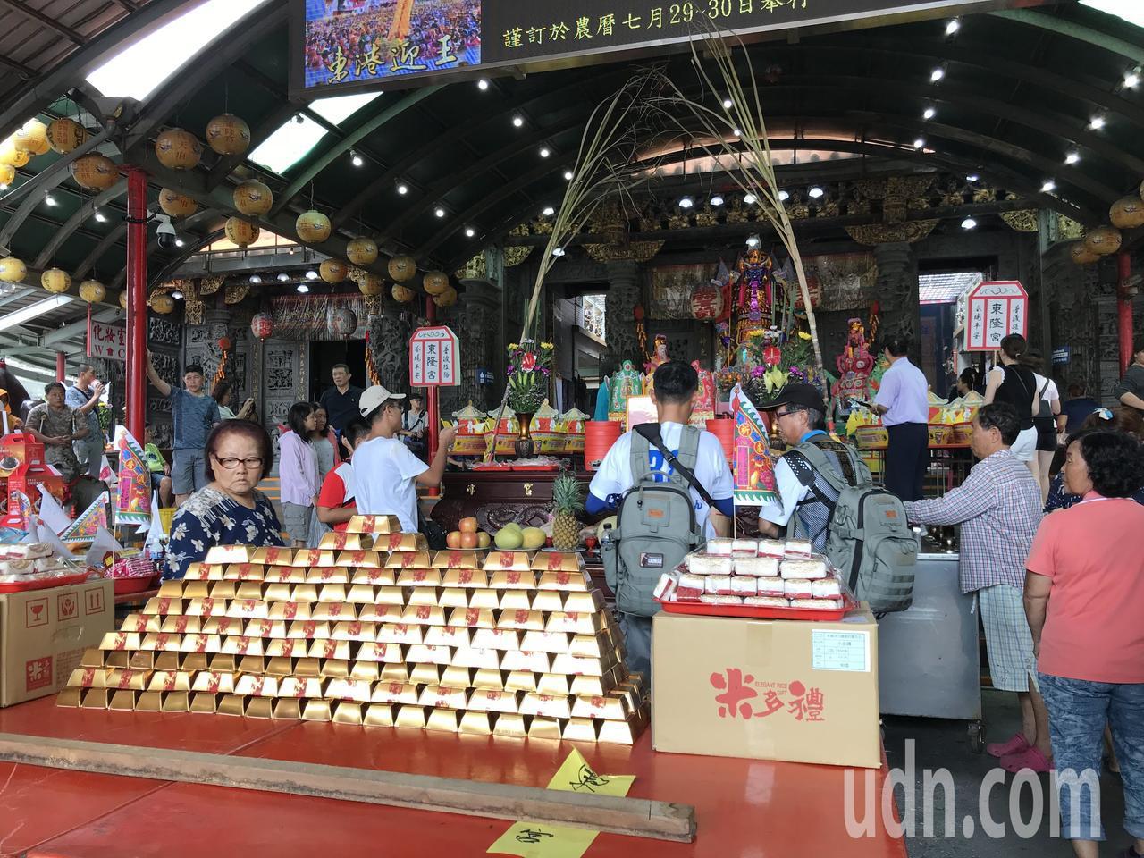 農曆七月最後一天,東港東隆宮舉辦總普渡法會。記者蔣繼平╱攝影