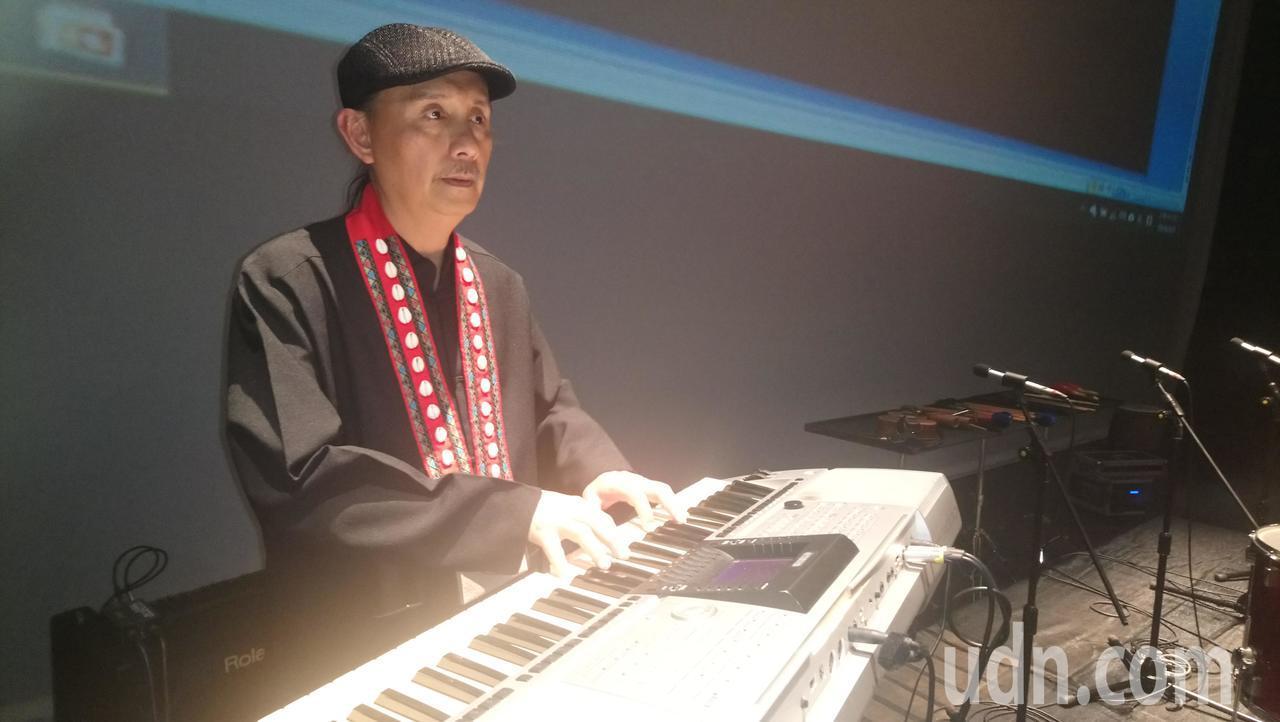 鄒族音樂創作家杜銘哲。記者謝恩得/攝影