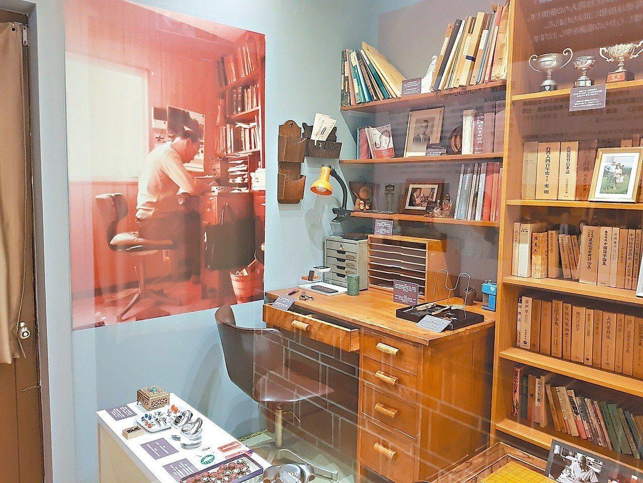 紀念館重現王育德在日本時使用的書房。 記者修瑞瑩/攝影