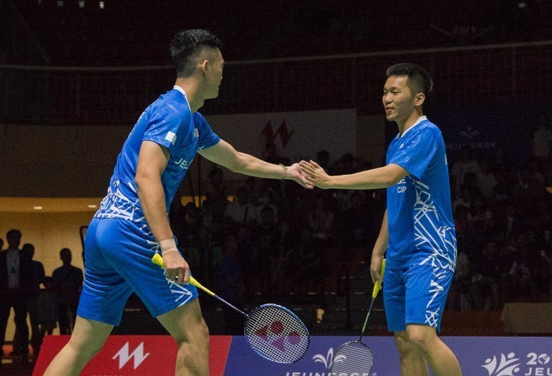 李洋(右)與王齊麟在婕斯盃首度搭擋。圖/海碩國際行銷提供
