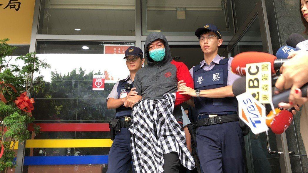 本土劇藝人江俊翰因涉毒品罪遭警方逮捕。記者廖炳棋/攝影 廖炳棋