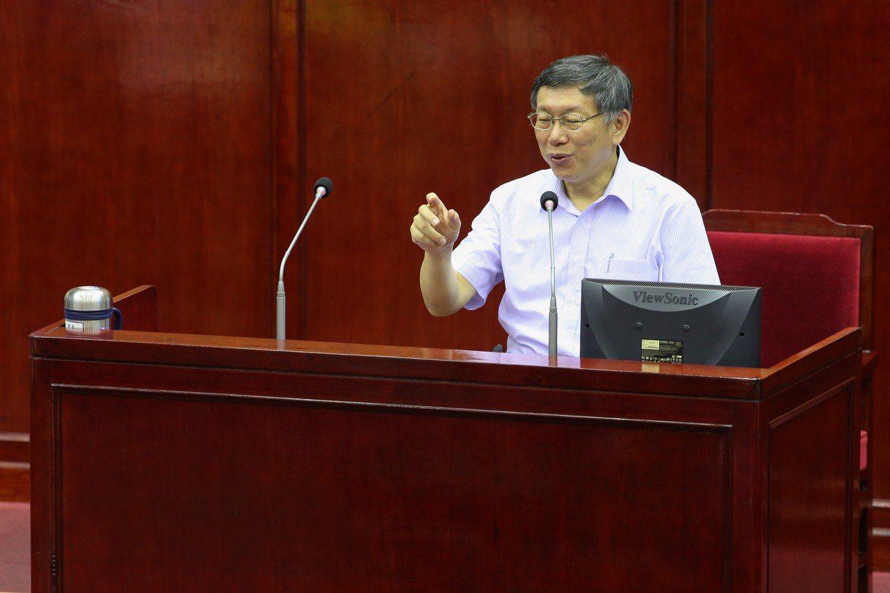 台北市市長柯文哲。 聯合報系資料照片/記者葉信菉攝影