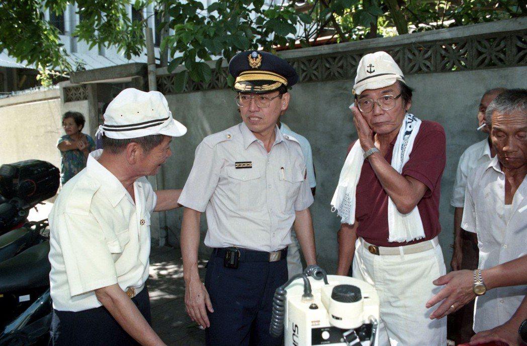 台籍老兵赴日本交流協會抗議。 圖/聯合報系資料照片